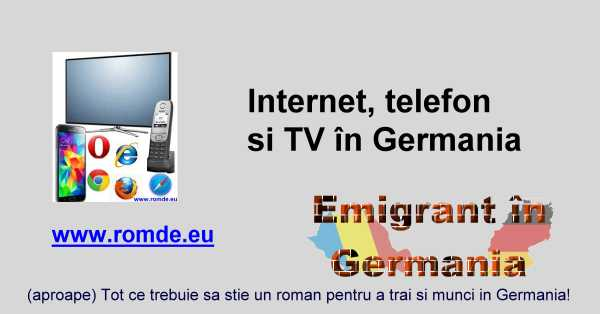 Internet si telefonie in Germania