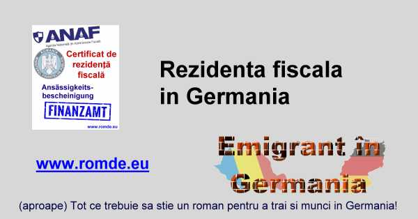 Rezidenta fiscala in Germania